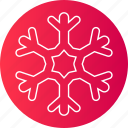 christmas, cold, ice, red, snow, snowflake, winter icon