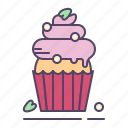 cupcake, dessert, strawberry icon