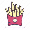 chips, french, fries, potato icon