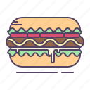 hotdog, mustard, sausage icon