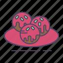 meatballs, sauce icon