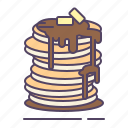 butter, honey, pancakes, syrup icon