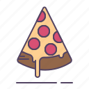 cheese, pepperoni, pizza icon