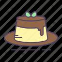 caramel, pudding icon