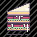 ham, mayonnaise, sandwish icon