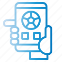 check, communication, live, news, score, smartphone icon