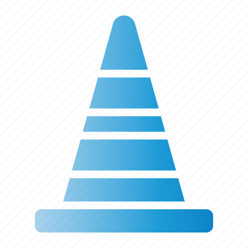 barrier, cone, cones, tool, training icon