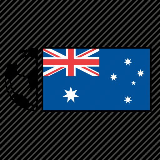 australia, australian, ball, country, flag, football, soccer icon
