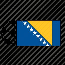 and, bosnia, country, flag, football, herzegovina, soccer icon