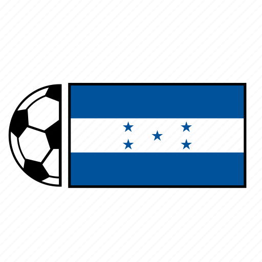 ball, country, flag, football, honduras, soccer icon