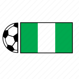 ball, country, flag, football, nigeria, soccer icon
