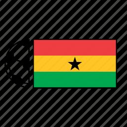 ball, country, flag, football, ghana, soccer icon