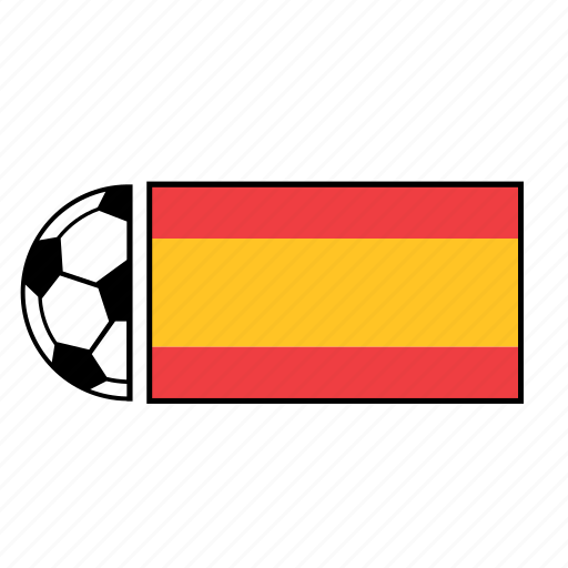 ball, country, flag, football, soccer, spain icon