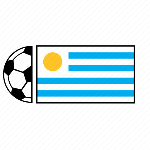 ball, country, flag, football, soccer, uruguay icon