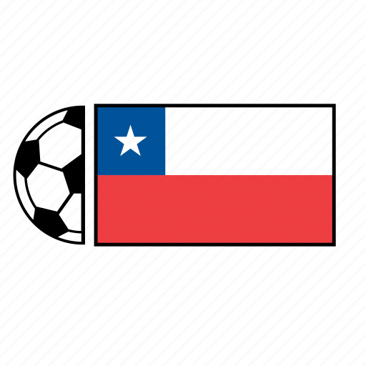 ball, chile, country, flag, football, soccer icon