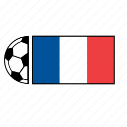 ball, country, flag, football, france, soccer icon