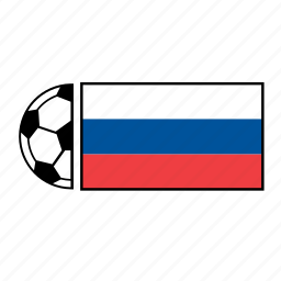 ball, country, flag, football, russia, soccer icon