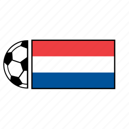 ball, country, flag, football, holland, netherlands, soccer icon