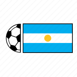 argentina, ball, country, flag, football, soccer icon