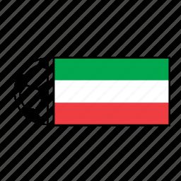 ball, country, flag, football, iran, soccer icon