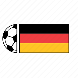ball, country, flag, football, german, germany, soccer icon