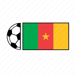 ball, cameroon, country, flag, football, soccer icon