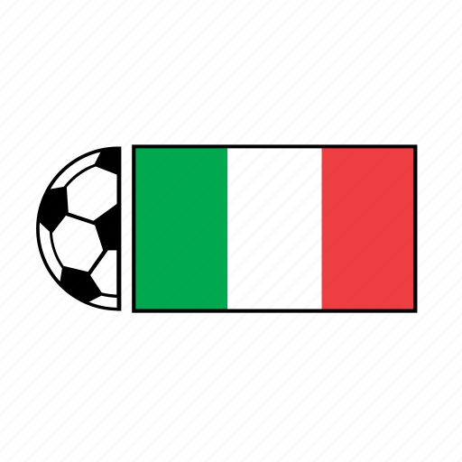 ball, country, flag, football, italy, soccer icon