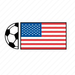 america, country, flag, football, soccer, united states, usa icon