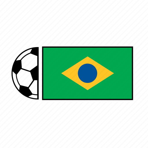 ball, brazil, country, flag, football, soccer icon