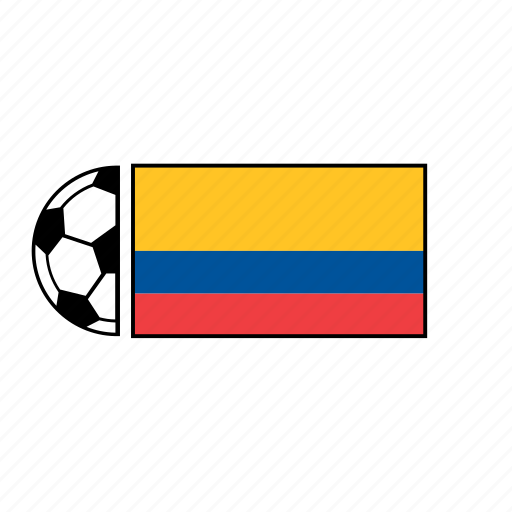 ball, colombia, country, flag, football, soccer icon