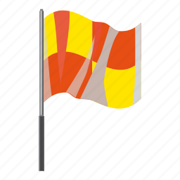 cartoon, flag, hape, large, soccer, wave, wind icon