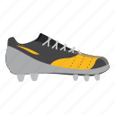 cartoon, equipment, football, league, shoe, soccer, sport icon