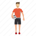 cartoon, field, football, jersey, male, soccer, sport icon