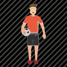 cartoon, field, football, jersey, male, soccer, sport icon