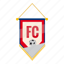 badge, cartoon, fc, football, pennant, soccer, sport icon