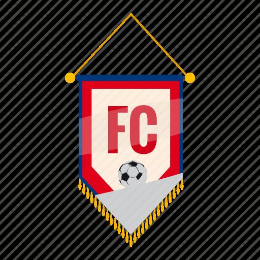 badge, cartoon, fc, football, pennant, soccer, sport icon