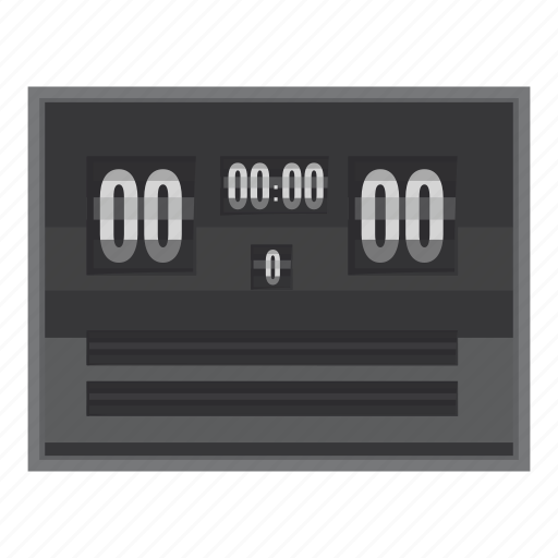 board, cartoon, game, score, scoreboard, team, time icon