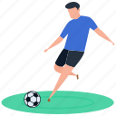 athlete, football player, outdoor game, soccer, sport icon