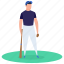 athlete, baseball player, outdoor game, player, sport icon