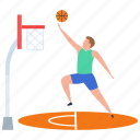 basketball player, basketball score, goal, outdoor game, sport icon