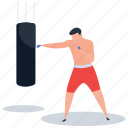 athlete, boxer, boxing, fighting, punching icon
