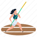 athlete, gymnastic, olympic game, pole vault, sportswoman icon