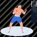 athlete, boxer, boxing, fighting, punching icon