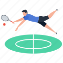 outdoor game, sport, tennis, tennis court, tennis player icon