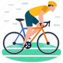 bicycle, cycle rider, cycle sports, cycling, olympic game icon