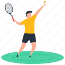 badminton, badminton playing, outdoor game, player, sport icon