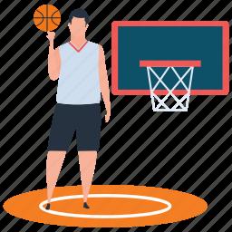 basketball player, basketball score, goal, outdoor game, sport