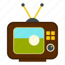 ball, football, old, retro, soccer, television, tv icon