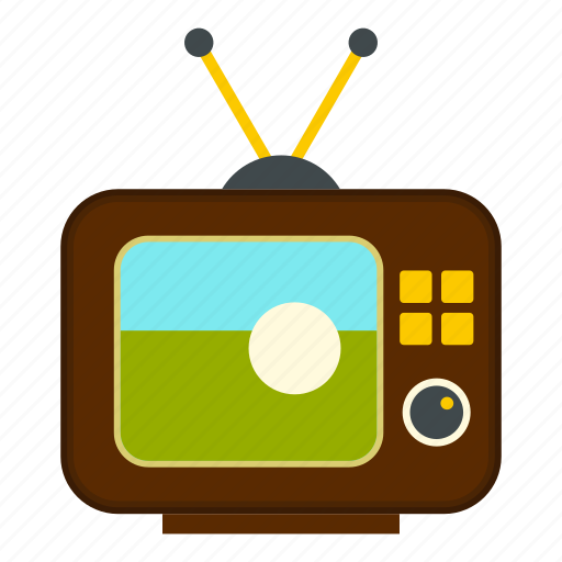 ball, football, old, retro, soccer, television, tv icon