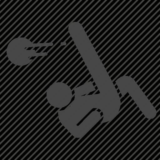 action, bicycle kick, football, overhead kick, player, soccer icon
